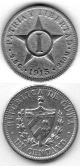 Old and rare vintage collectible Cuba Coins, memorabilia and