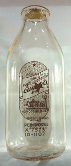 Porta botellas de leche vintage